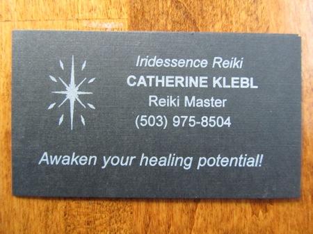 Business cards awakening to heal business card irridescence reiki energy healing herbal medicine reheart Gallery